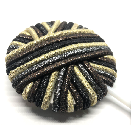Lollipop hårsnodd brun/beige/silver