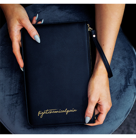 #FIGHTCHRONICALPAIN Bag Black Gold